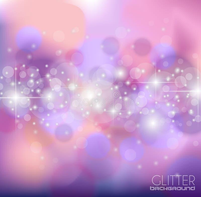 Abstrakt Glietter bakgrund för hälsningskort royaltyfri illustrationer