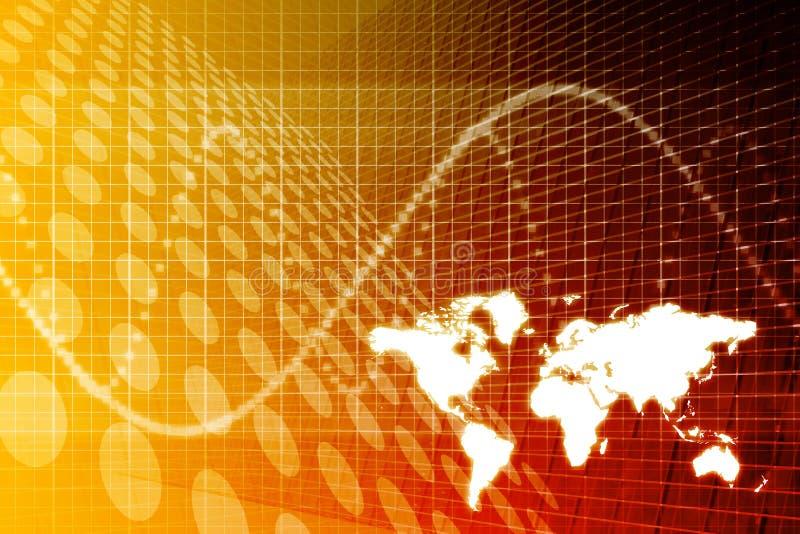 abstrakt global bakgrundsaffär stock illustrationer