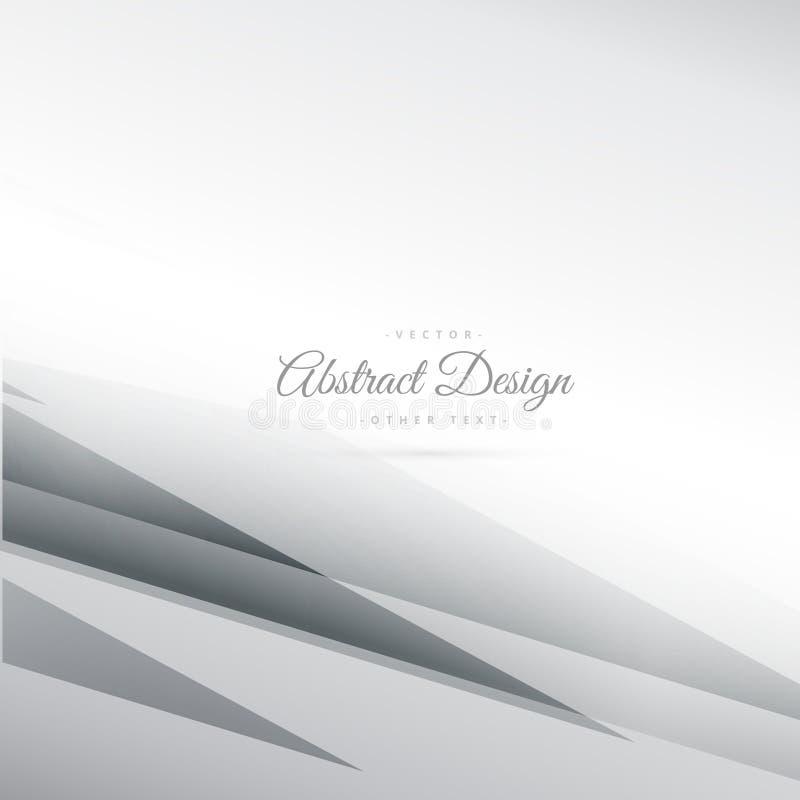 Abstrakt grå bakgrundsvektor med geometriska linjer vektor illustrationer