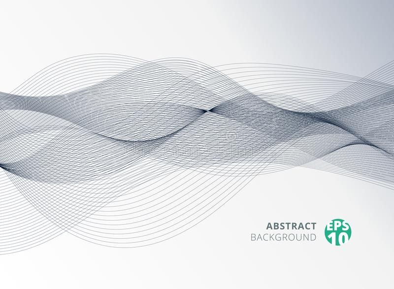 Abstrakt grå färglinje vågbeståndsdel för designbakgrund stock illustrationer
