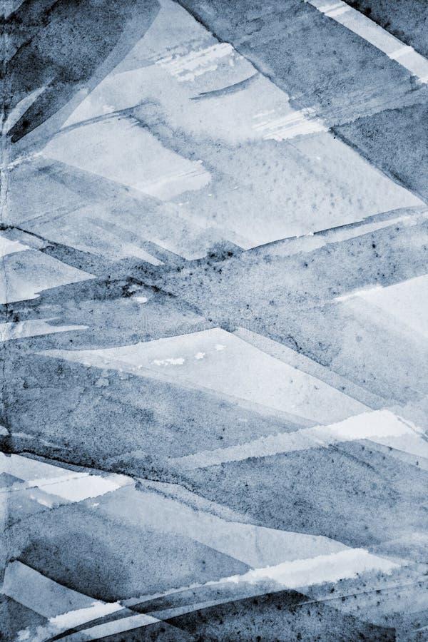 Abstrakt grå vattenfärg på pappers- textur som bakgrund royaltyfri fotografi