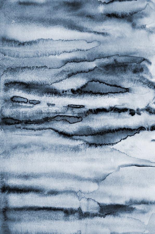 Abstrakt grå vattenfärg på pappers- textur som bakgrund vektor illustrationer