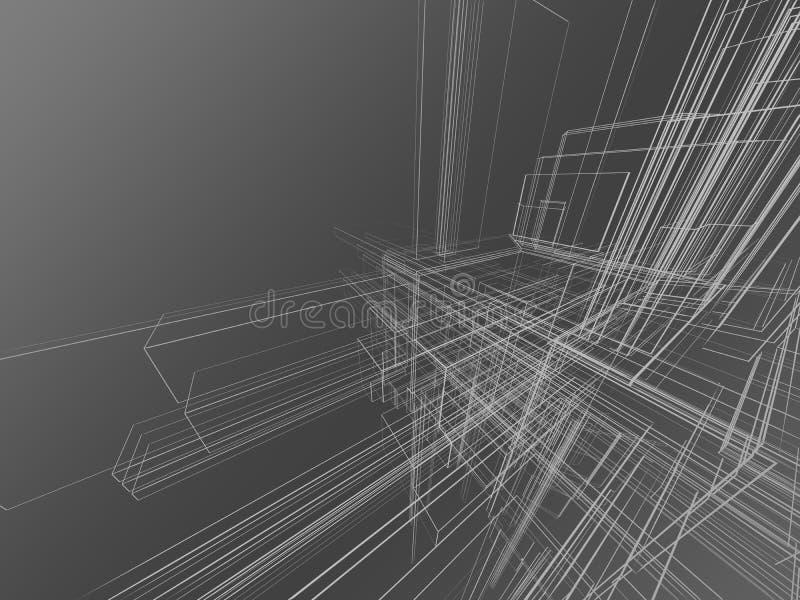 abstrakt grå wireframe vektor illustrationer