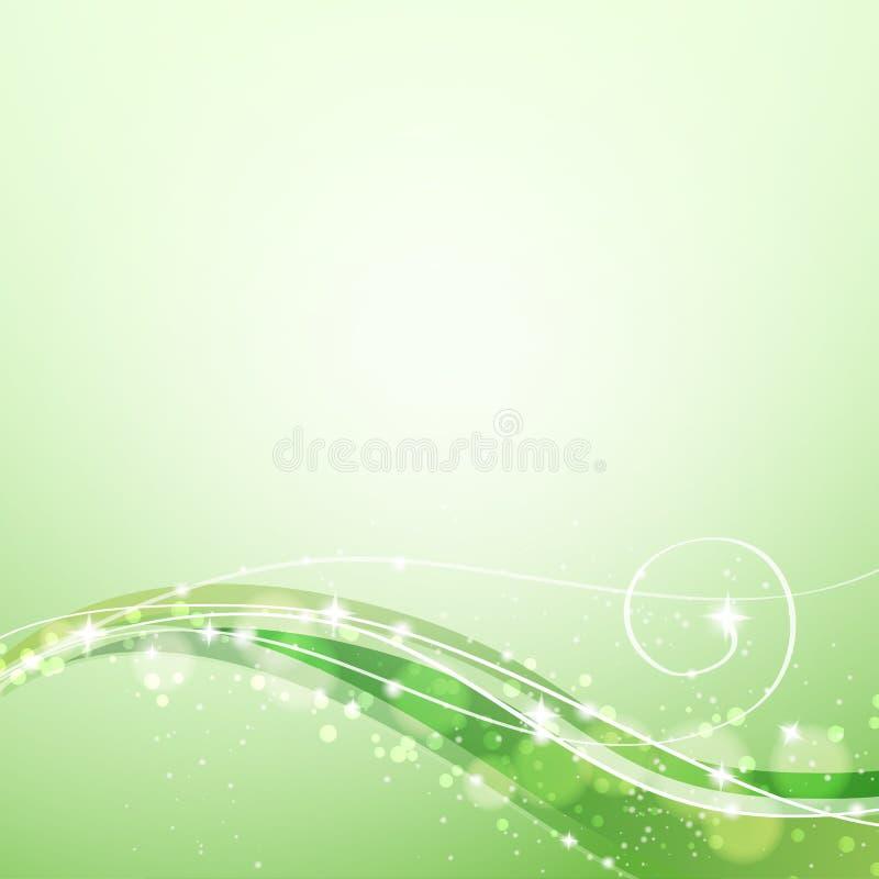 Abstrakt grön bakgrund vektor illustrationer