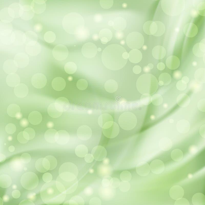 Abstrakt grön bakgrund royaltyfri illustrationer