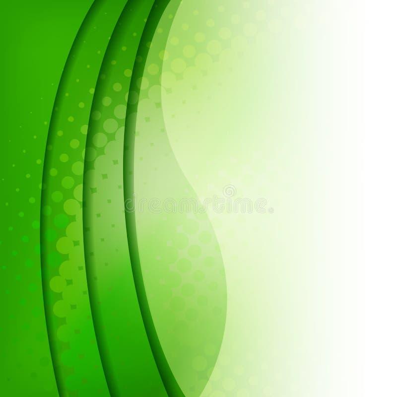 Abstrakt grön bakgrund stock illustrationer