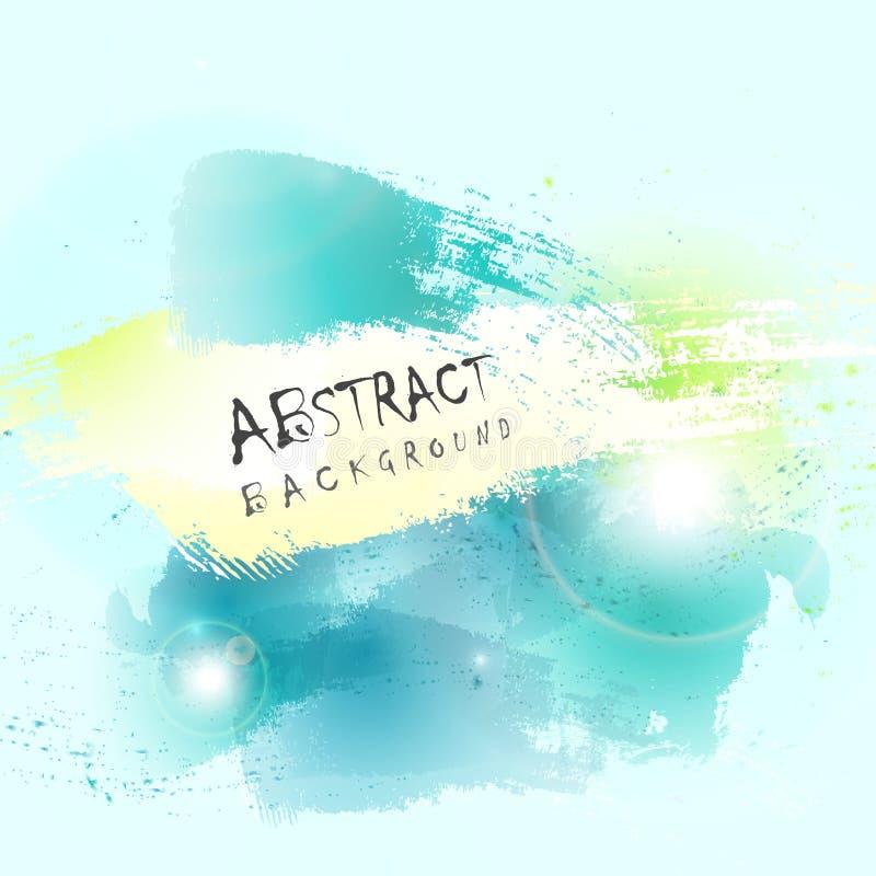 Abstrakt grön bakgrund för färgstänk för färg för blått vatten Illustrationvektor eps10 vektor illustrationer