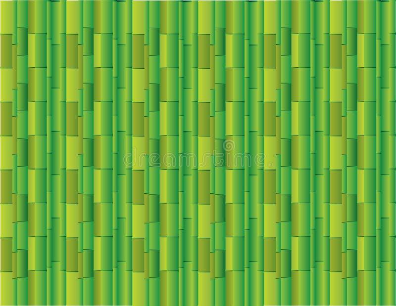 Abstrakt grön bakgrund genom att använda många raka bambu för presentationsvektor stock illustrationer