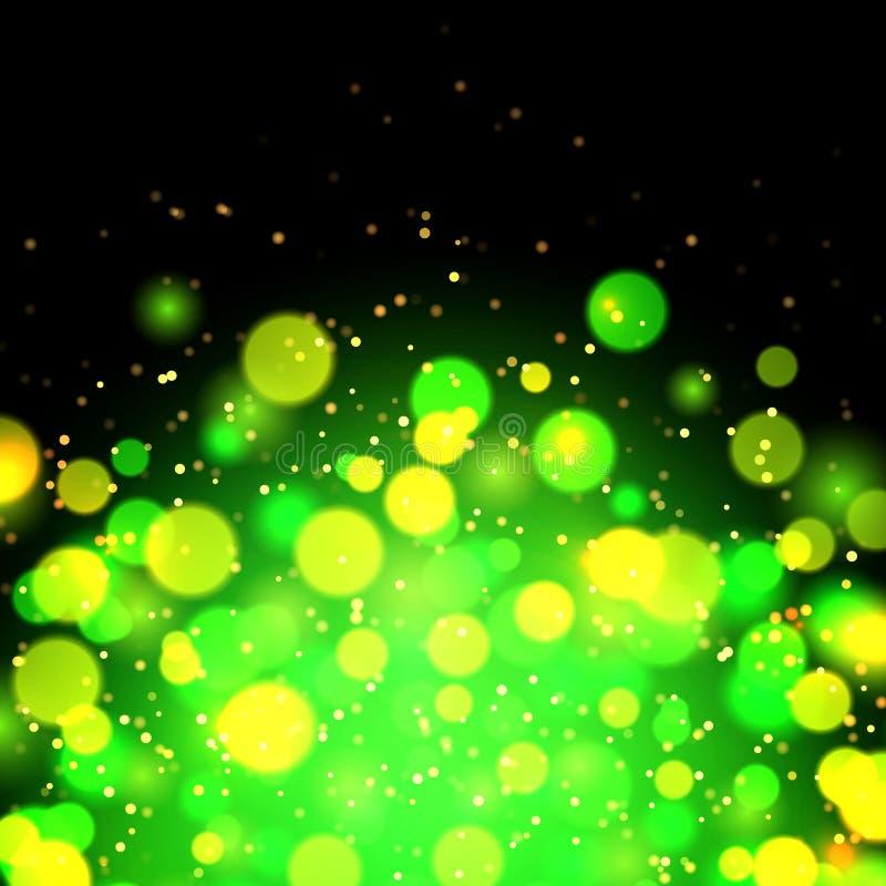 Abstrakt grön bokeheffektbakgrund royaltyfri illustrationer