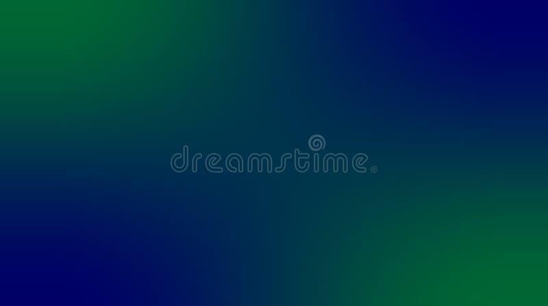 Abstrakt grön färg, djup marinblå färg, mång- färger gjorde suddig skuggad effektbakgrund stock illustrationer