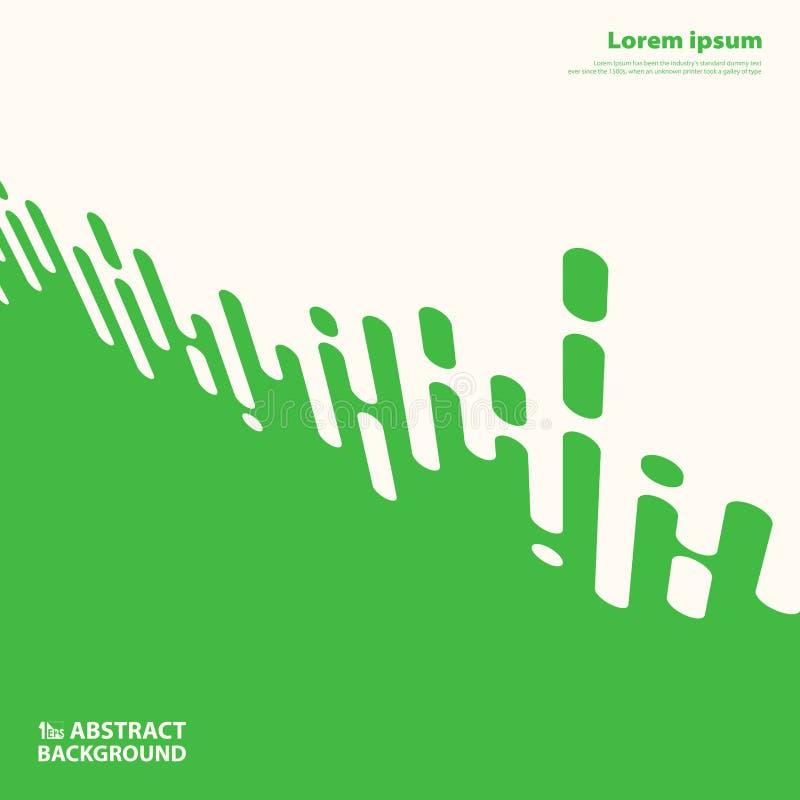 Abstrakt grön färg som dekorerar bandlinjer, kopplar ihop presentationsbakgrund Illustrationvektor eps10 vektor illustrationer