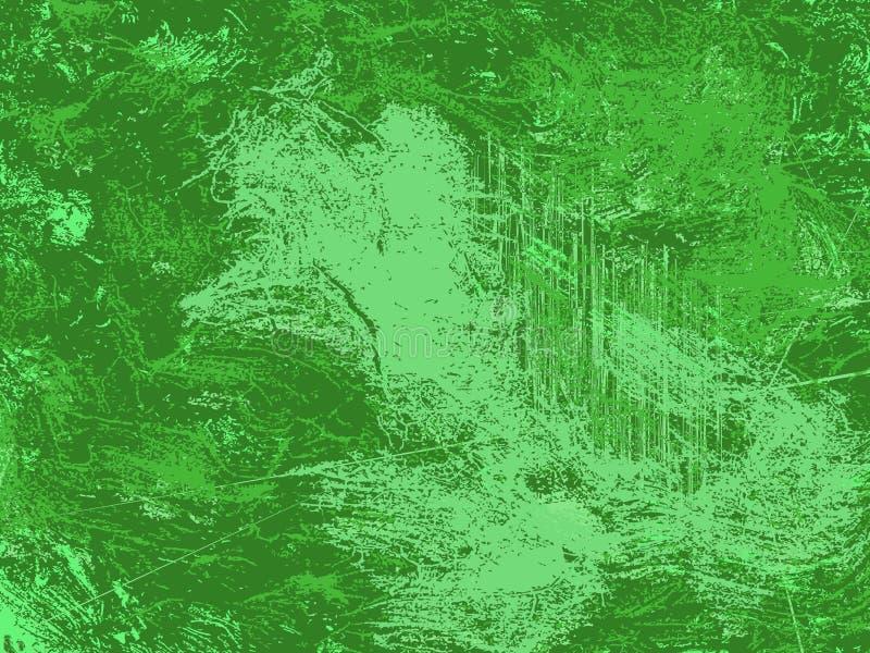 Abstrakt grön grunge och smutsig bakgrund, grönskande designtextur royaltyfri illustrationer