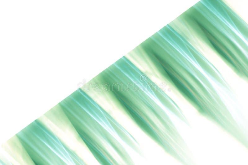 Abstrakt grön modellbakgrund - texturerade oskarpa band med isolerat vitt utrymme royaltyfri illustrationer