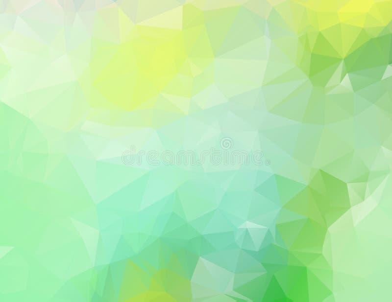 Abstrakt grön naturpolygonbakgrund Abstrakt polygonal illustration för mörk brunt, som består av trianglar Triangulär desig stock illustrationer