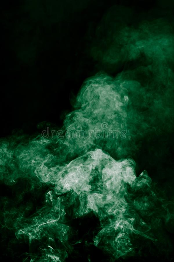 abstrakt grön rök arkivbild