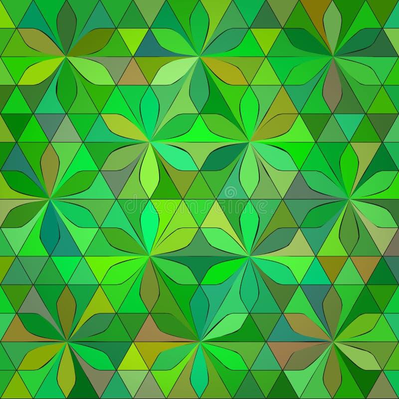 Abstrakt grön triangelbakgrund vektor illustrationer
