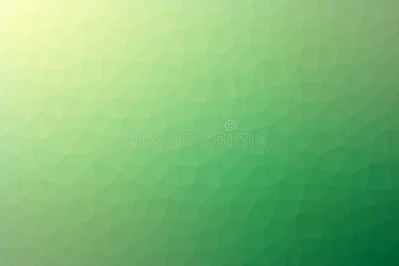 Abstrakt grön vektor för polygonlutningbakgrund royaltyfri bild