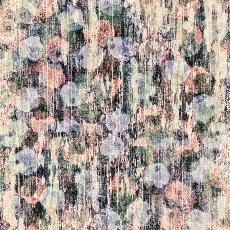 Abstrakt grön, violett, rosa och svart grungetapettextur royaltyfri fotografi