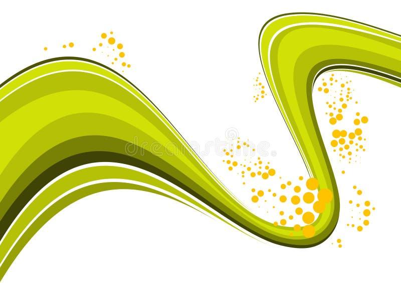 abstrakt grön wave stock illustrationer