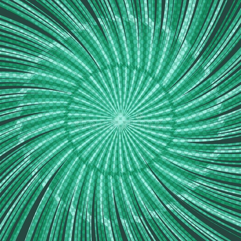 Abstrakt grönt explosivt begrepp för komisk sida vektor illustrationer