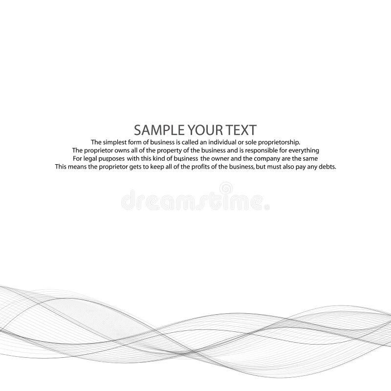 Abstrakt gr? f?rgv?gbakgrund Orientering f?r annonsering 10 eps royaltyfri illustrationer