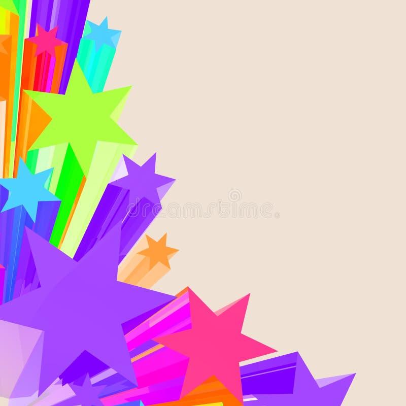 Abstrakt Gra główna rolę tło Jako Kolorowy Wibrujący tło royalty ilustracja