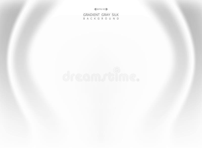 Abstrakt gradientowy biały szary jedwabniczy tło royalty ilustracja