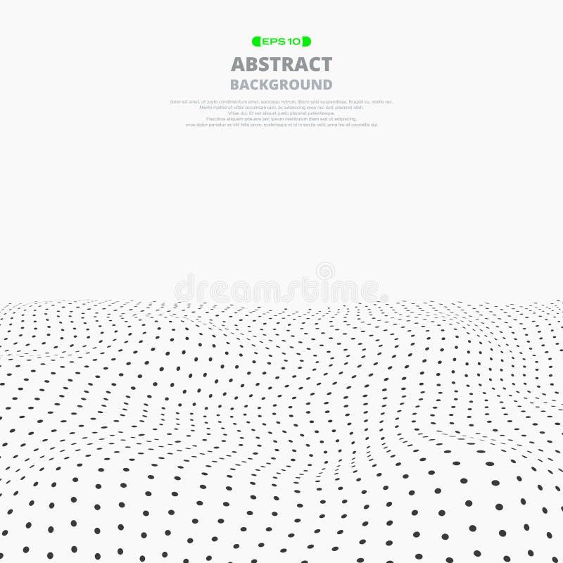 Abstrakt gradientowy siatki kropki wzoru tło ilustracja wektor