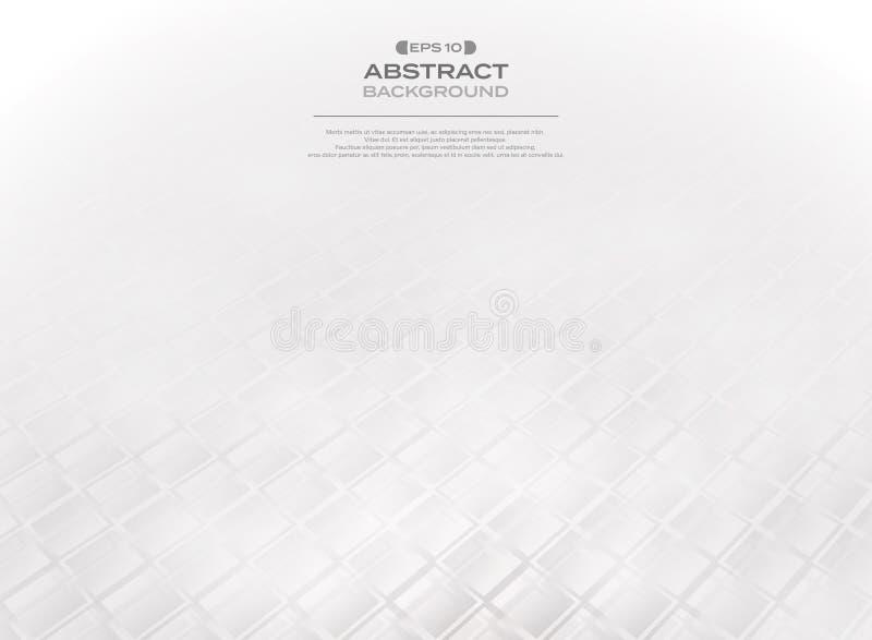 Abstrakt gradientowy szary białego kwadrata wzór lodowy mozaiki tło ilustracji
