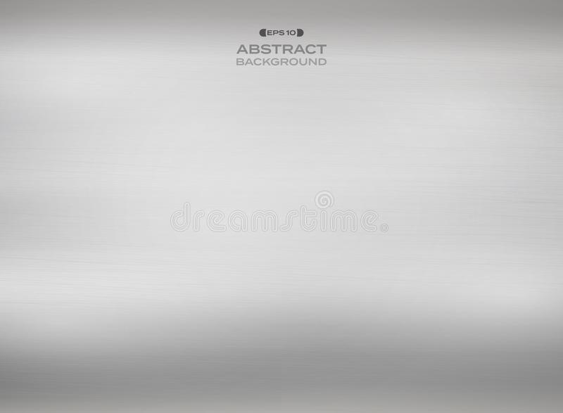 Abstrakt gradientu srebra tekstury stalowy tło ilustracji
