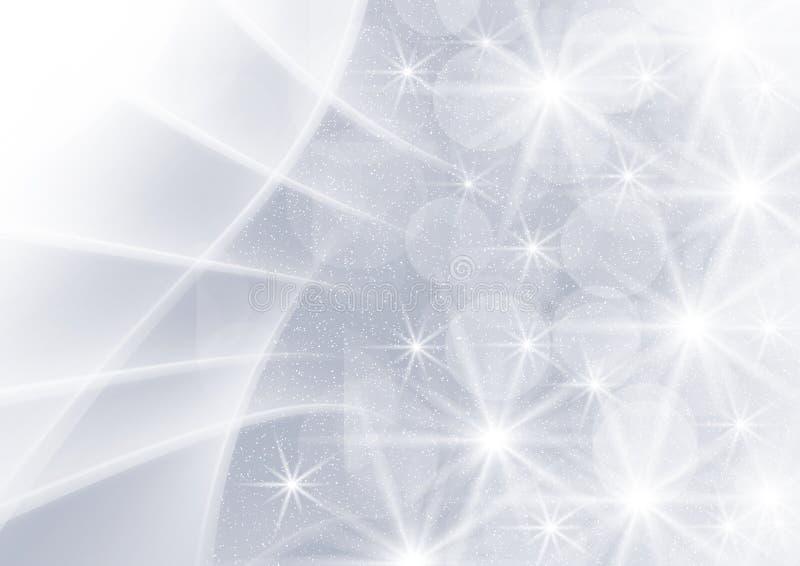 Abstrakt grafika popielaty tło z gwiazdami ilustracja wektor