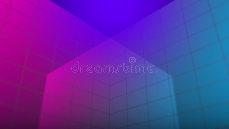 Abstrakt grafisk bakgrund, affärsskyskrapabegrepp framförande 3d vektor illustrationer