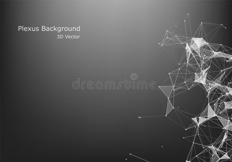 Abstrakt grafisk design för internetuppkoppling och för teknologi Faktiskt begrepp f?r aff?r royaltyfri illustrationer