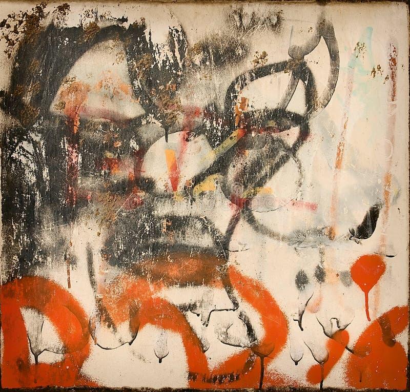 abstrakt grafitti stock illustrationer