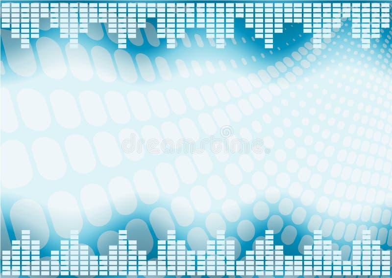 abstrakt grafmusikalvolym stock illustrationer