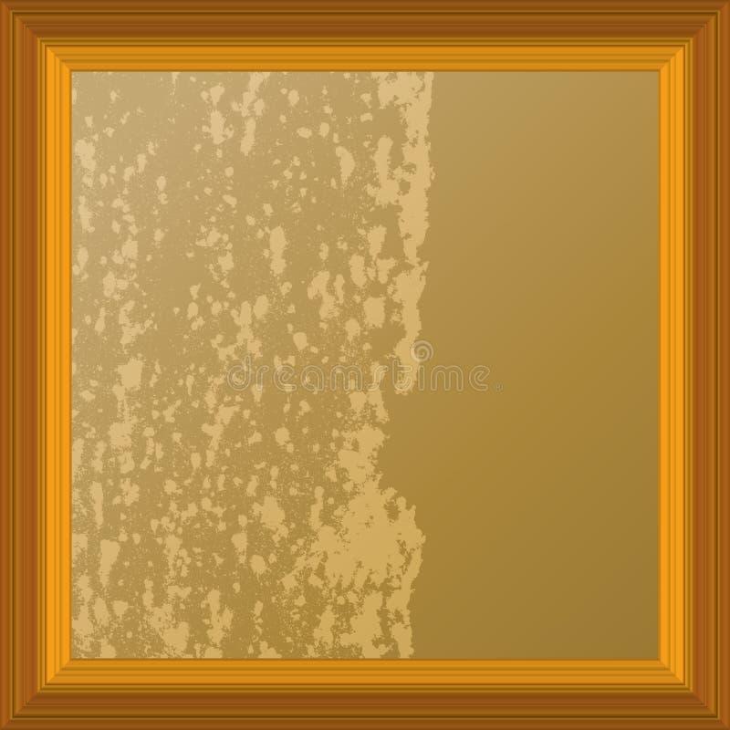 abstrakt granicy koloru ramy painti dwa drewniany ilustracja wektor