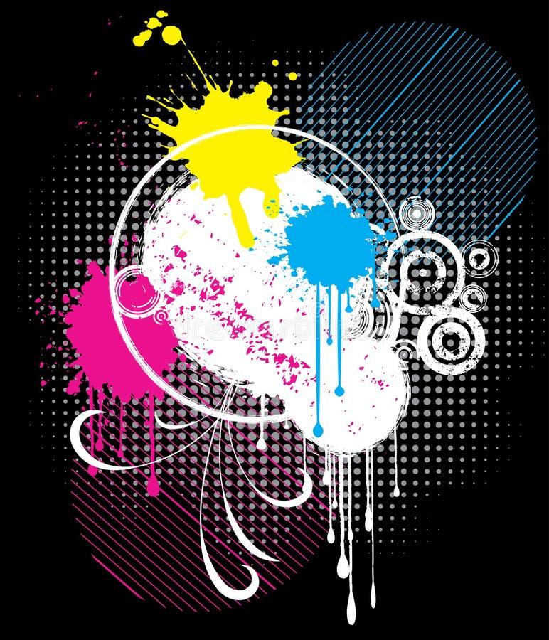 abstrakt grunge stock illustrationer