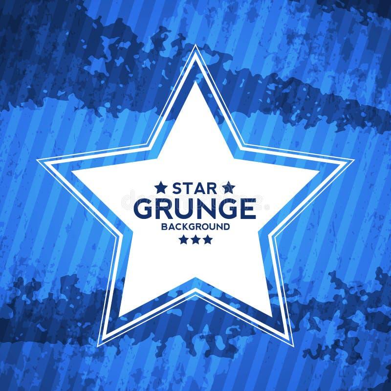 Abstrakt Grunge texturerad bakgrund med stjärnan royaltyfri illustrationer