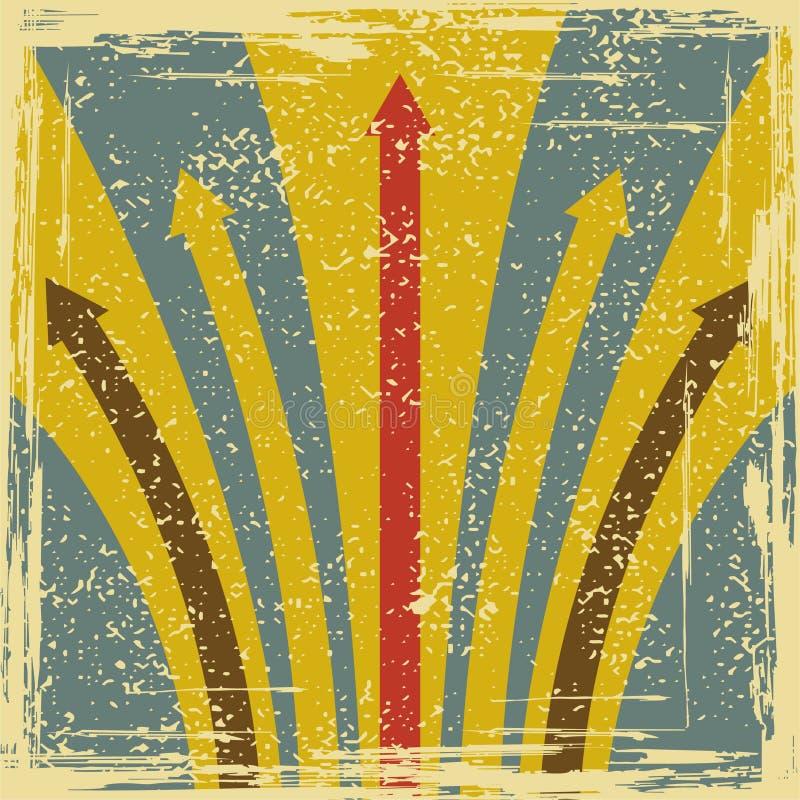 Abstrakt grungebakgrund med pilar royaltyfri illustrationer