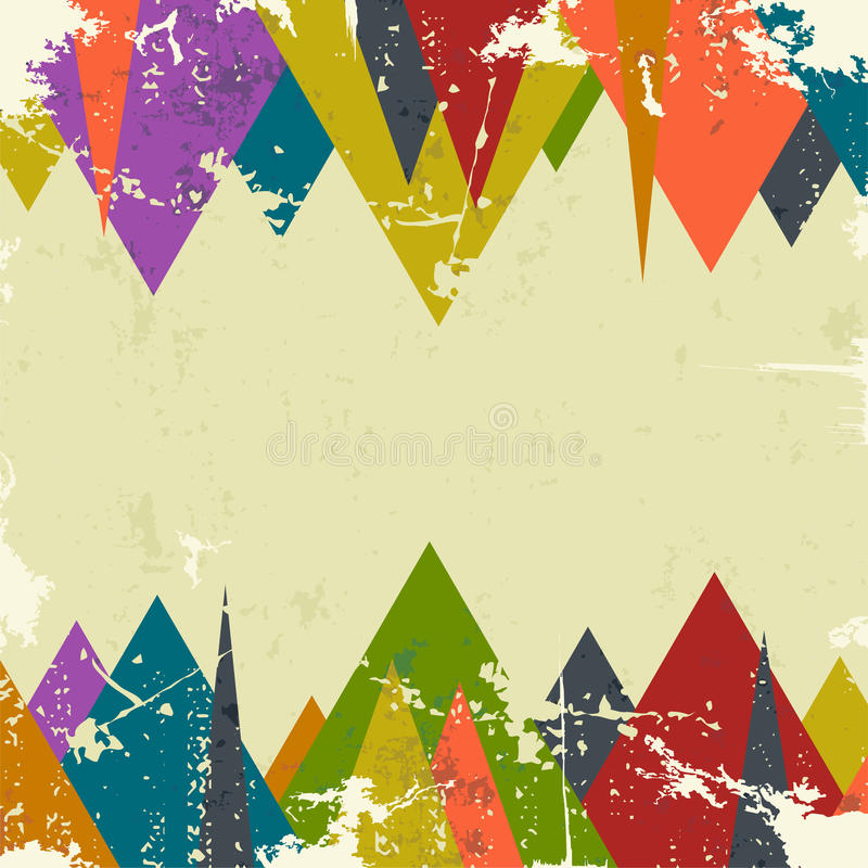 Abstrakt grungebakgrund med trianglar vektor vektor illustrationer