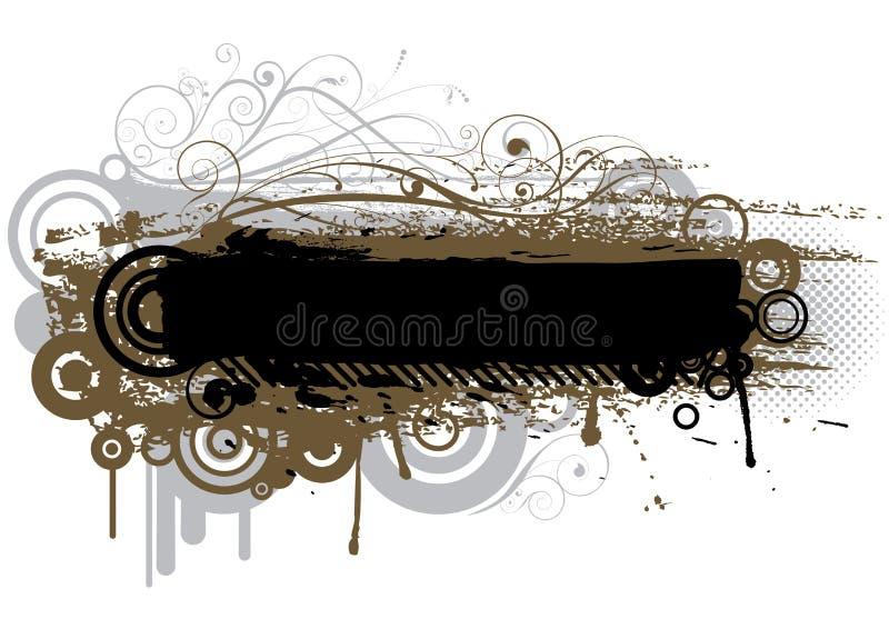 Abstrakt grungeborstedesign vektor illustrationer