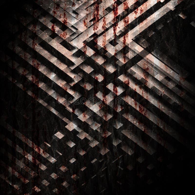 Abstrakt grungy mörkerfyrkantbakgrund royaltyfri illustrationer