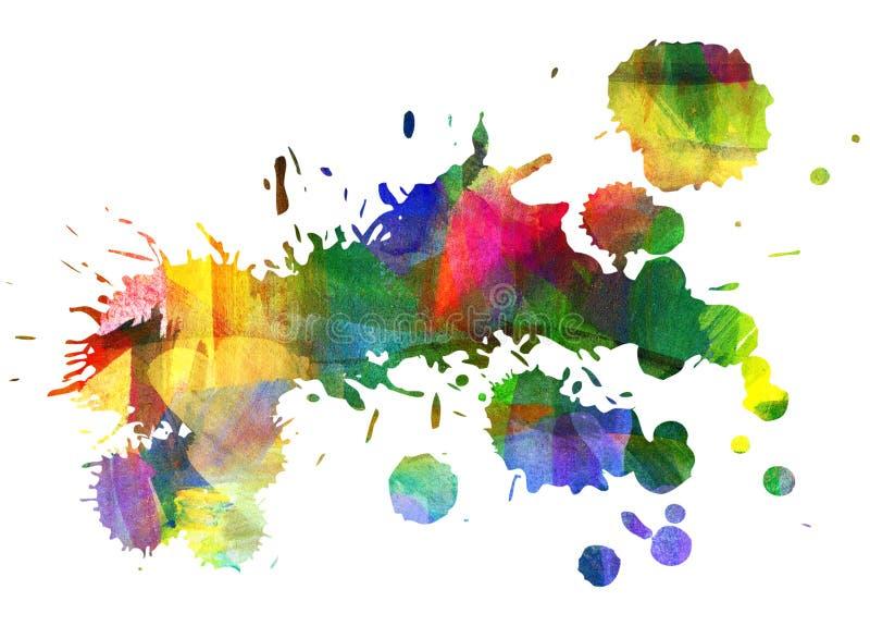 Abstrakt guaschmålning stock illustrationer