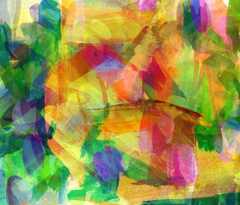 Abstrakt guaschmålning vektor illustrationer