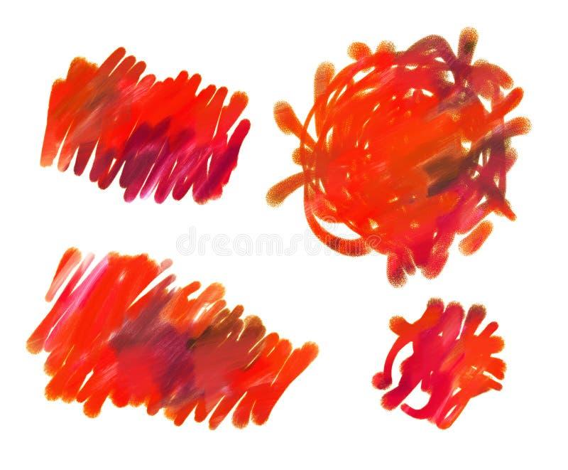 Abstrakt guaschmålning royaltyfri illustrationer