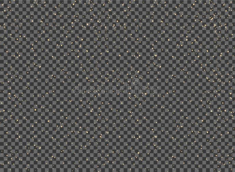 Abstrakt gul målarfärg stänker på genomskinlig bakgrund stock illustrationer