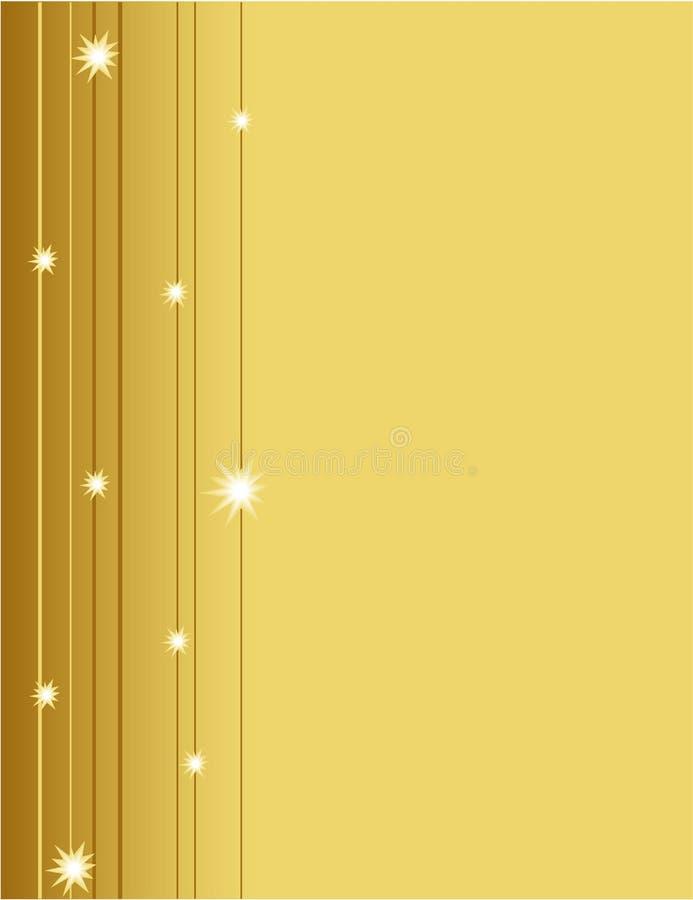 abstrakt guld royaltyfri illustrationer