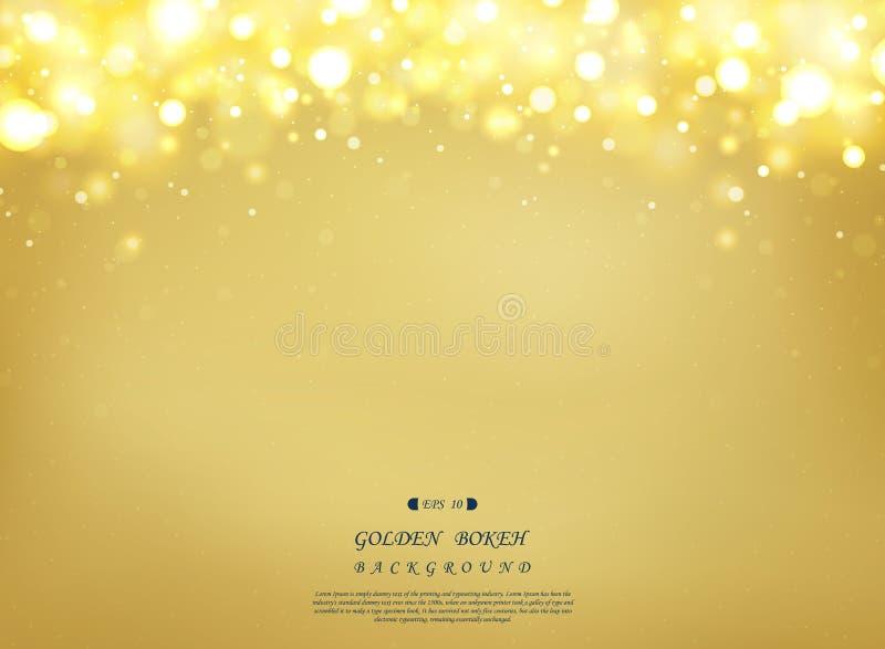 Abstrakt guld- bakgrund med blänker dekorativt överst och att justera på olika sätt för att framlägga vektor illustrationer