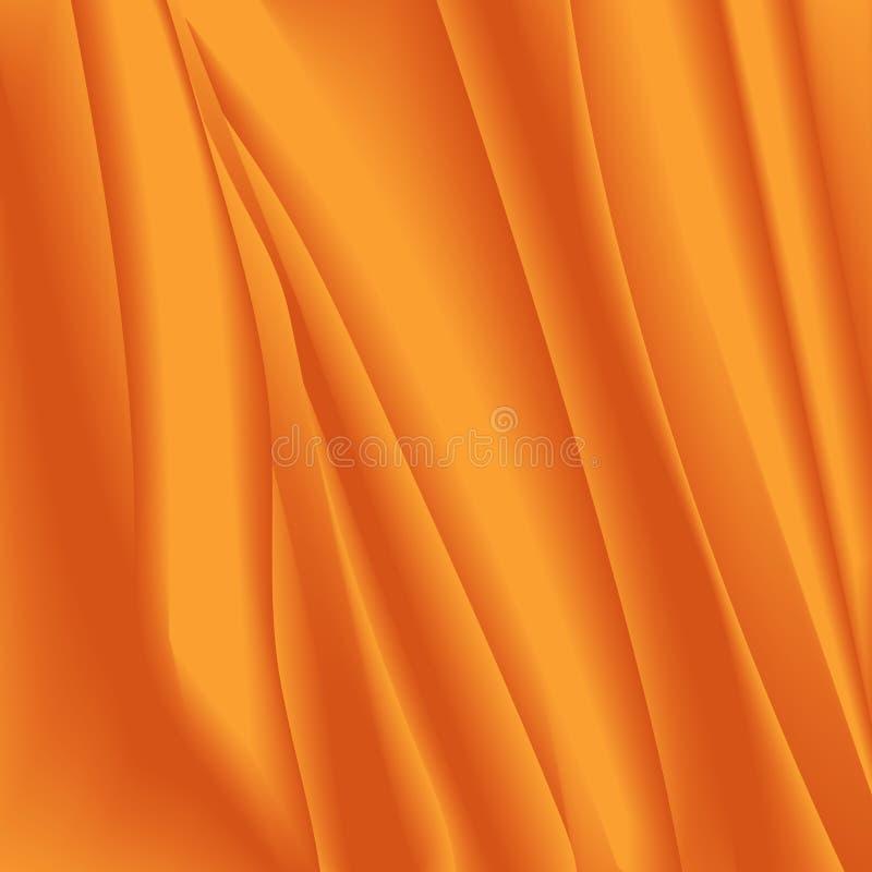 Abstrakt guld- bakgrund med släta linjer Siden- effekt Delikat textur i guling- och bruntfärger Ökeneffekt, organzatextu vektor illustrationer