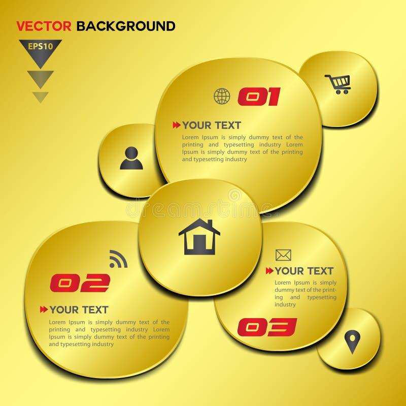 Abstrakt guld- geometrisk vektordesign vektor illustrationer